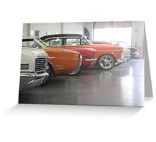 Muscle-car Garage Greeting Card