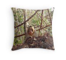 Wild monkey 1 Throw Pillow
