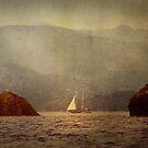 Textured Sailing In The Mediterranean Rocks by Josh Wentz