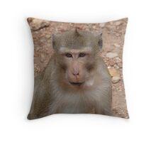 Wild monkey 2 Throw Pillow