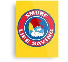 Smurf Life Saving Metal Print