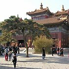 Main courtyard, Lama Temple, Beijing, China by Philip Mitchell