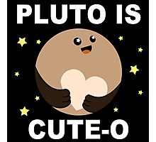 Pluto is Cute-o! Photographic Print