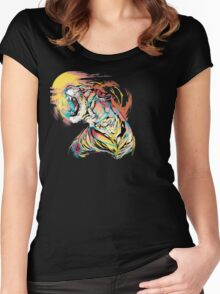 Sunrise Tiger Women's Fitted Scoop T-Shirt