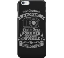 photography photographer t-shirt iPhone Case/Skin