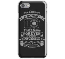 photography photographer t-shirt iPhone Case/Skin