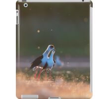 Black-winged stilts in the evening iPad Case/Skin