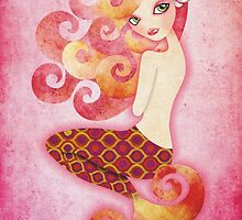 Coraleen, Mermaid in Pink by sandygrafik