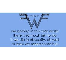 Words Of The Rock Gods Photographic Print