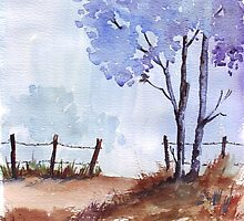 Fences and poles by Maree  Clarkson