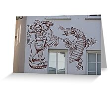 St George and the Dragon, Miltenberg, Germany Greeting Card