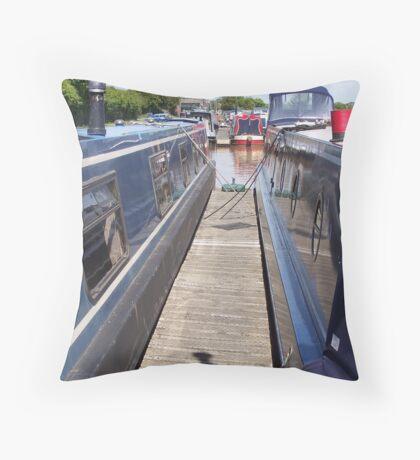 Very narrow boats Throw Pillow
