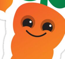 Cute kawaii orange carrot with cute hearts Sticker