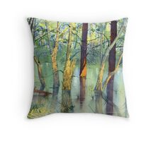 Treeflections, Skipwith Common Throw Pillow