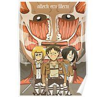 Attack on Titan parody print Poster