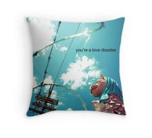 love disaster Throw Pillow