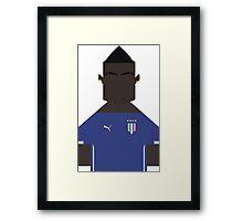 Balotelli Italia World Cup Framed Print