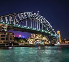 Sydney Harbor Bridge at Night by Ray Warren