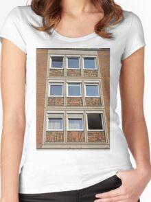 Sculptures of people at work, Nuremburg, Germany Women's Fitted Scoop T-Shirt