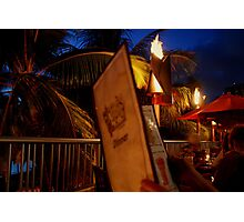 Dinner in Hawaii Photographic Print