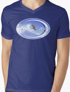 riding powder Mens V-Neck T-Shirt