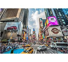 Times Square Traffic Photographic Print