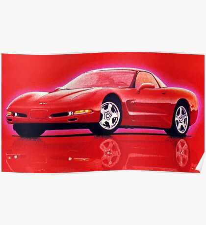 "97 ""Vette"" in Red Poster"