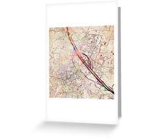 Vienna map Greeting Card