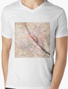 Vienna map Mens V-Neck T-Shirt