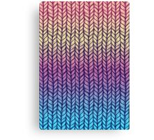 Rainbow Gradient Chunky Knit Pattern Canvas Print