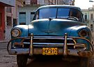 Old Blue Chevy, Early Morning, Havana, Cuba by buttonpresser