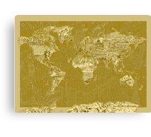 World Map landmarks 7 Canvas Print