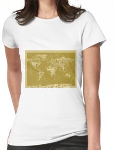 World Map landmarks 7 Womens Fitted T-Shirt