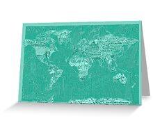World Map landmarks 7 Greeting Card