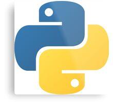 Python Logo Tile Print Metal Print