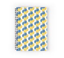 Python Logo Tile Print Spiral Notebook