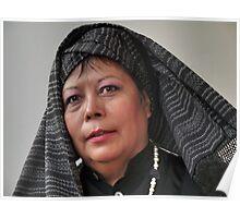 (592) Turban and shawl Poster