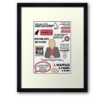 Knope Quotes Framed Print