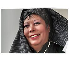 (593) Turban and shawl Poster