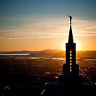 Bountiful Steeple Sunset by Kory Trapane