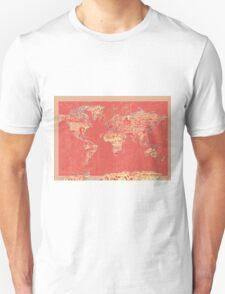 World Map landmarks 9 T-Shirt