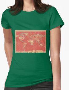 World Map landmarks 9 Womens Fitted T-Shirt
