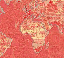 World Map landmarks 9 Sticker