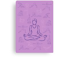 Violet Yoga Canvas Print