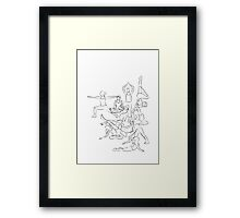 Yoga Asanas - drawing Framed Print