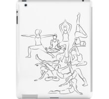 Yoga Asanas - drawing iPad Case/Skin