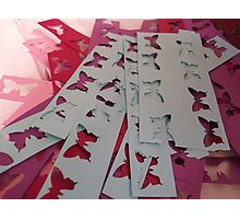 Cut Out Butterfly Crafting Photographic Print
