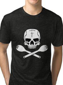 Skull and Crossed Sporks Tri-blend T-Shirt