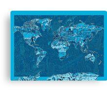 World Map landmarks 10 Canvas Print