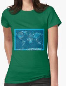 World Map landmarks 10 Womens Fitted T-Shirt
